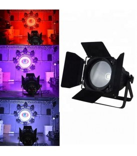 COB Stage Par64 200W LED RGB (W/WW/A) YLC-200PRO + Barndoor Swivel