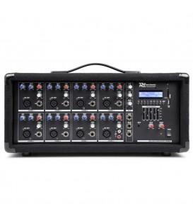 8-Kanaals Mixer met Versterker Power Dynamics PDM-C805A