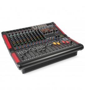 12-Kanalen Stage Mixer met Versterker Power Dynamics PDM-S1204A