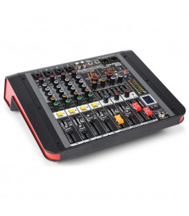 4-Kanalen Studio Mixer met Versterker Power Dynamics PDM-M404A
