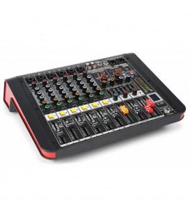 6-Kanalen Studio Mixer met Versterker Power Dynamics PDM-M604A