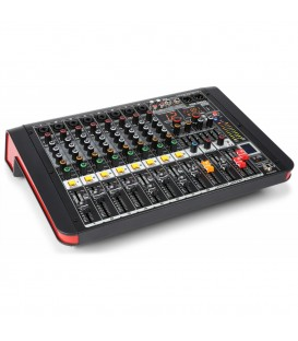 8-Kanalen Studio Mixer met Versterker Power Dynamics PDM-M804A