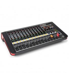 12-Kanalen Studio Mixer met Versterker Power Dynamics PDM-M1204A