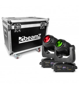 IGNITE180B LED Beam Moving Head 2 stuks in Flightcase beamZ