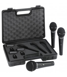 3 STUKS Dynamische microfoon in koffer BEHRINGER XM1800S