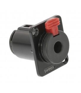 Stereoconnector inbouw Jack 6.35 mm Female Vernikkeld Zwart SWEEX PRO