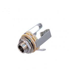 Stereoconnector Jack 6.35 mm inbouw Female Metaal Zilver Neutrik