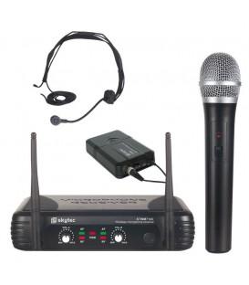 VHF Microfoon Systeem 2-kanaals Combi Skytec STWM712C