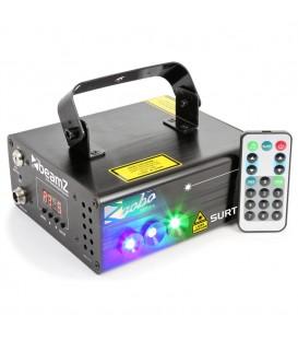 Surtur II Double Laser RG Gobo DMX IRC 3W Blauw LED