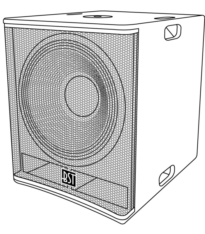 Passieve Subwoofer 18 600w Rms Bst First Sp18s