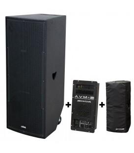 VIBE-30 MKII 800watt + AVM II VERSTERKERMOD + TOURING BAG JB SYSTEMS