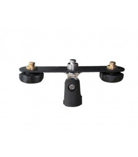 "T-Adapter Microfoonstatief zwart 2 x 5/8"" draad GMA-20"