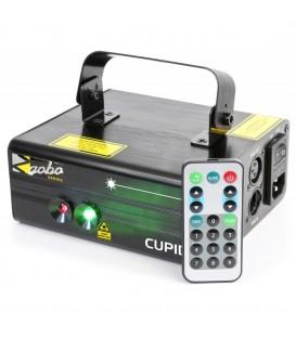 Cupid Double Laser 210mW RG Gobo DMX IRC beamZ