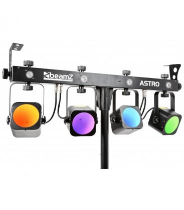 Astro Parbar 4x 20W COB + 4x 1W Witte LEDs