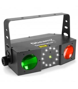 Terminator IV LED Double Moon met laser en strobe beamZ