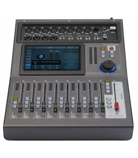 LiveTouch20 digital mixer 20 channels motorized faders large touch screen USB