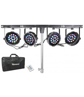 LED PARBAR 4-Way Kit 18x 1W RGB LED's DMX beamZ