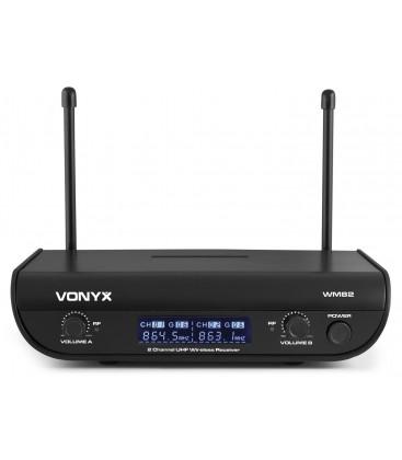 WM82 Digitaal UHF 2-Kanaals Draadloos Mic. Sys. 2 Bodypacks