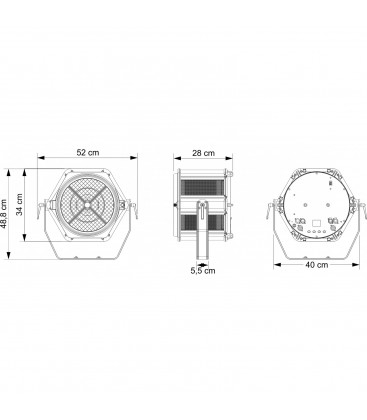 4 X beamZ LCB145 LED Pixel Bar 12x 8W in Flight Case