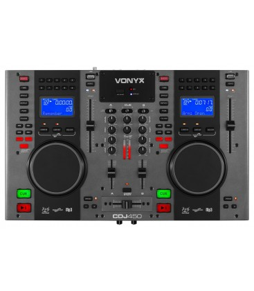Vonyx CDJ450 Twin Top CD/MP3/USB Speler/Mixer met Bluetooth