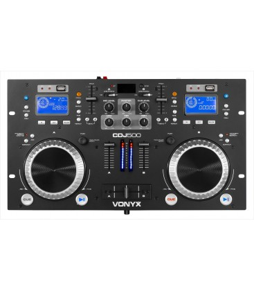 Vonyx CDJ500 Dubbele Speler met versterker CD/MP3/USB/Bluetooth