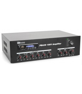100V Versterker 30W met MP3, tuner, BT 24/230V Power Dynamics PBA30