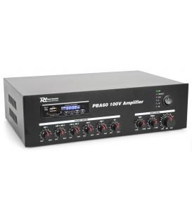 100V Versterker 60W met MP3, tuner, BT 24/230V Power Dynamics PBA60