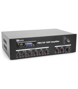 100V Versterker 120W met MP3, tuner, BT 24/230V Power Dynamics PBA120
